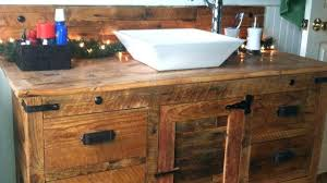 Beautiful Bathroom Your Custom Made Rustic Barn Wood Double Vanity