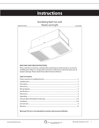 Progress Lighting Pv021 30wb Bath Exhaust Fan White Instructions Manualzz Com