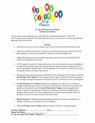 Event Planner Contract Event Planner Invoice Template Awesome Party Planner Contract 7
