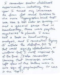 typing replaces handwriting philip hensher s the missing ink  121129 books handwriting childhood