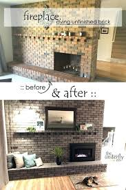 updating brick fireplace update brick fireplace with stone fireplace makeover before and after what color should updating brick fireplace