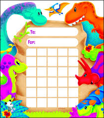 Dinosaur Reward Chart And Stickers Dino Mite Pals Dinosaur Incentive Reward Pad Incentive