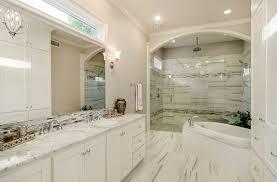 transitional bathroom ideas. Unique Bathroom Transitional Bathroom Design With White Vanity And Marble Finishes On Bathroom Ideas O