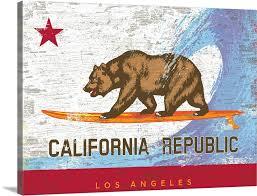 california surf bear flag los angeles