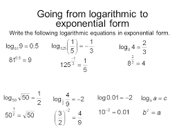 how to undo an exponent math going from logarithmic to exponential form mathway limits