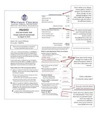 An Example Of An Invoice Student Accounts Annual Invoice Example Whitman College 66
