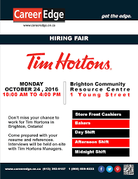 Tim Hortons Resume Job Description Tim Hortons Job Fair Career Edge 29