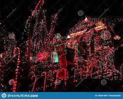 Christmas Lights New England A House Exterior With Christmas Lights Decoration Stock