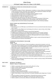 Project Manager Resume Example Communications Project Manager Resume Samples Velvet Jobs 12