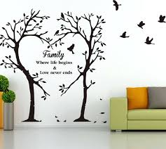 tree wall art decal family inspirational love tree wall art sticker wall  sticker family inspirational love