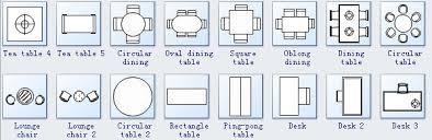 Floor plan symbols House Edraw Seating Plan Symbols
