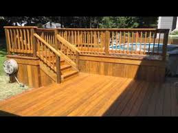 wood patio with pool. Outdoor Patio And Deck Around Pool Wood Patio With F