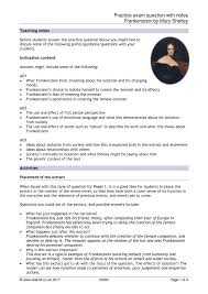 practice exam question notes using an extract from resource thumbnail