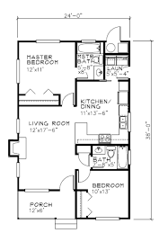 Small 2 Bedroom Cabin Plans Cottage Style House Plan 2 Beds 2 Baths 838 Sq Ft Plan 515 18