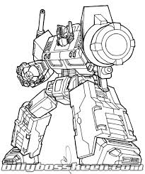 Small Picture Optimus Prime Coloring Page lezardufeucom