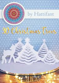 Paper Christmas Tree Lights Hattifants 3d Paper Christmas Trees Hattifant