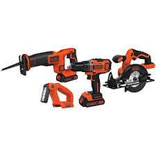 black and decker tools. black + decker 20-volt max lithium ion 4-tool kit: amazon.ca: tools \u0026 home improvement black and decker
