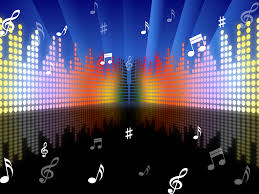 background music. Simple Music Background Music Represents Sound Track And Abstract On E