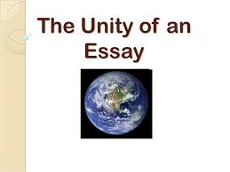 the unity of an essay unity unity refers to each part of the  1 the unity of an essay
