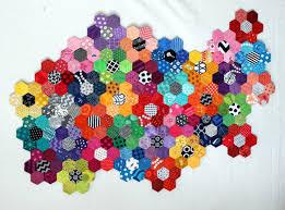 hexagons | WOMBAT QUILTS & hexagon flower modern quilt Adamdwight.com