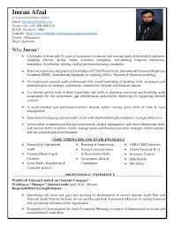 Auditor Resume Custom Cv Imran Afzal Manager Internal Audit