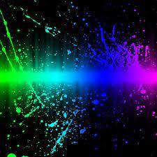 Rainbow Splash abstract iPad Wallpapers ...