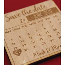 wooden calendar save the date magnets