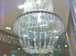 light recycled chandelier plastic bottle chair paper furniture within plastic bottle chandelier gallery