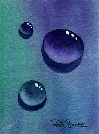 inspiration for practice painting water drops in an art journal