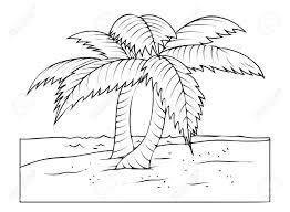 Palmiers Au Dessin Plage Clip Art Libres Droits Vecteurs Et Banque
