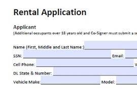 Renters Application Template Sample Tenant Application