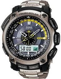 amazon co uk outdoor watches watches casio pro trek men s watch prw 5000t 7er