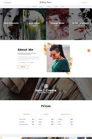 Art Portfolio Website Design Brittany Pierce Artist Portfolio Multipage Html5 Website
