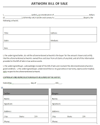 Microsoft Word Bill Sale Template