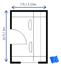 home office floor plan. Home Office Floor Plan 7 X 10ft 2 People
