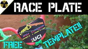 Design Your Own Bmx Plate Diy Bmx Race Plate Free Template