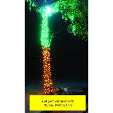 Đèn led quấn cây ngoài trời nhiều màu đẹp