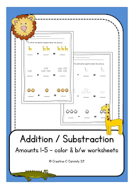 Freebie: Animal Addition & Subtraction worksheets for preschool ...