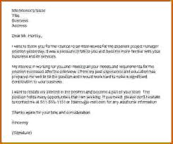 Interview Thank You Letters Best Solutions Of Interview Thank You