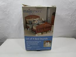 new set mainstays furniture bed risers