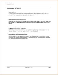It Statement Of Work 3 Professional Statement Of Work Templates Doc Templateinn
