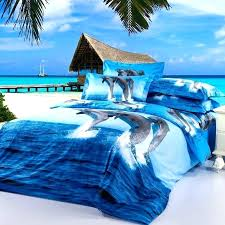 ocean bedding sets sea life bedding ocean blue and sky blue marine life dolphin fish print ocean bedding sets
