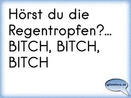 Hörst Du Die Regentropfenbitch Bitch Bitch österreichische