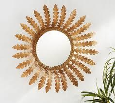 accent gold mirror
