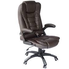 heated office chair. HOMCOM Heated Massage Executive Office Chair Brown O