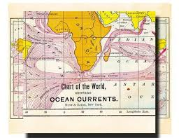 Printable World Map Showing The Oceans Currents Map Of The