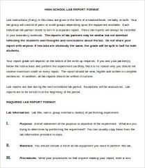 Lab Report Format Doc Template net