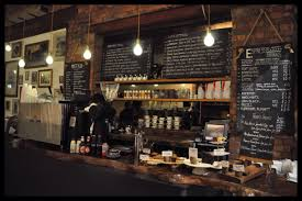 Cafe Decorations For Kitchen Rustic Interior Cafe Design With Red Bricks Wallpaper Interior