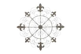 Features flying musical notes that gives off a traditional style vibe; 42x42 Inch Brown Iron Wall Decor Living Spaces