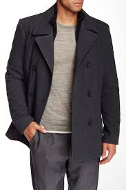image of kenneth cole new york double ted peacoat